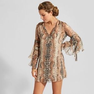 Haute Hippie Rock and Roll Snake Print Dress
